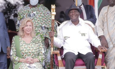 A quelques semaines de l'élection présidentielle- Alassane Ouattara reçoit ses attributs de gouvernance des mains des Agni Morofouè
