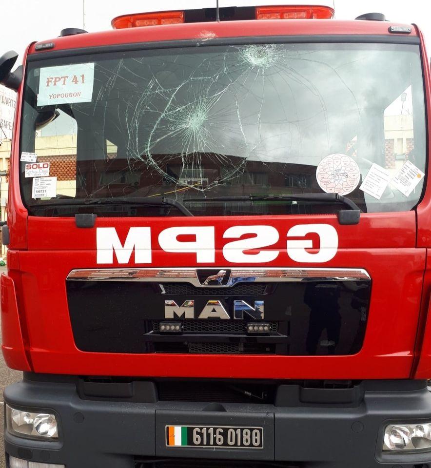 Vandalisme- Les Sapeurs Pompiers suspendent leurs interventions sur incendie à Yopougon1
