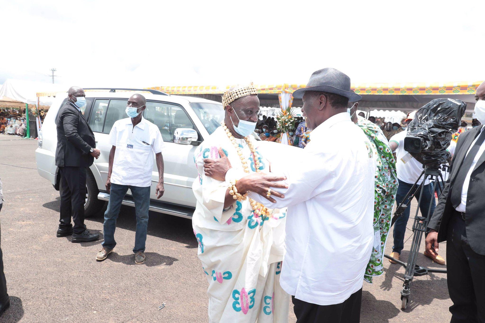 Visite d'Etat- Les larmes d'eau et de joie des ancêtres du Moronou sur Ouattara